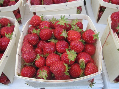 First of season strawberries