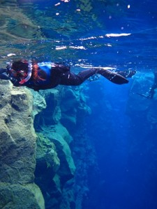 Just snorkelling between tectonic plates