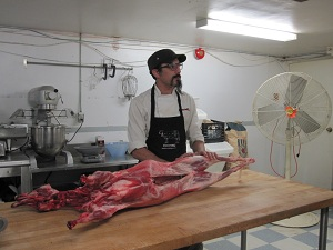 Lamb Butchery Demo at Cowbell