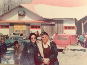 Mom and Dad Cabane a Sucre March 1975