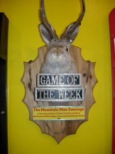 Very special Game of the Week menu board
